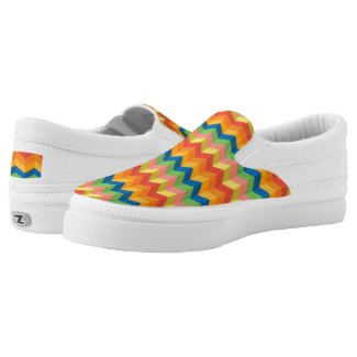 zigzag stripe Slip-On sneakers