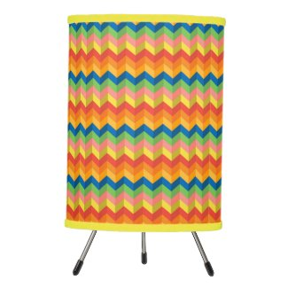 zigzag stripe tripod lamp