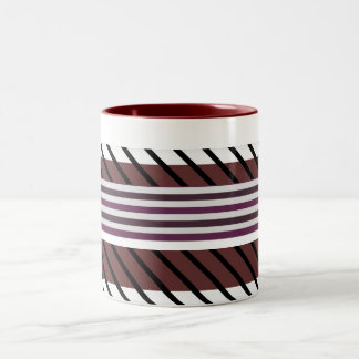 Zigzag, striped, Retro pattern coffee mug