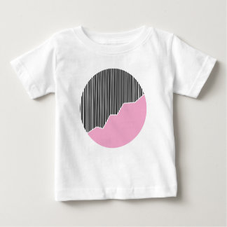 Zigzag & Stripes - Black, Pink & White Baby T-Shirt