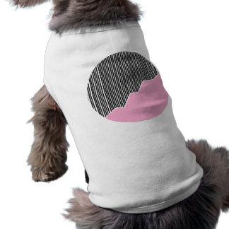 Zigzag & Stripes - Black, Pink & White Dog Shirt