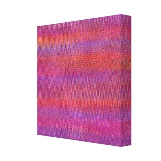 Zigzag Sunset Canvas Print