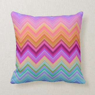 Zigzag sunset throw pillow