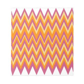 Zigzag tribal azteca bloc de notas