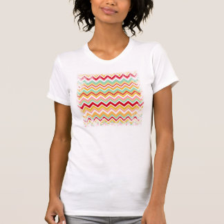 Zigzag tribal azteca de la fiesta de Chevron de Camiseta