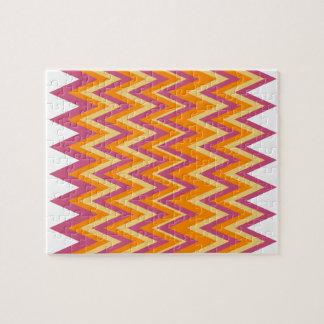 Zigzag tribal azteca puzzle con fotos