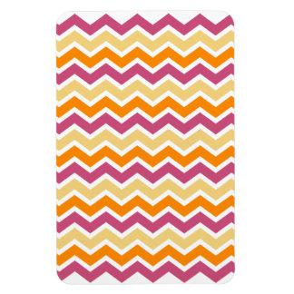 Zigzag tribal vibrante imanes rectangulares