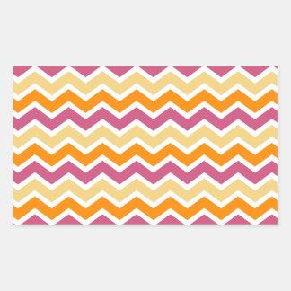 Zigzag tribal vibrante rectangular altavoces