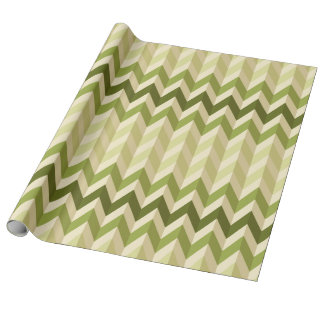 zigzag tridimensional de la ilusión en sombras papel de regalo