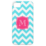 Zigzag Turquoise and Pink Custom Monogram iPhone 5 Case
