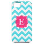 Zigzag Turquoise and Pink Custom Monogram iPhone 5 Covers