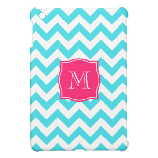 Zigzag Turquoise and Pink Custom Monogram iPad Mini Case