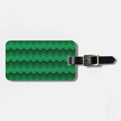 Zigzag verde Chevron del navidad Etiquetas De Maletas