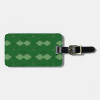 Zigzag verde etiqueta para equipaje