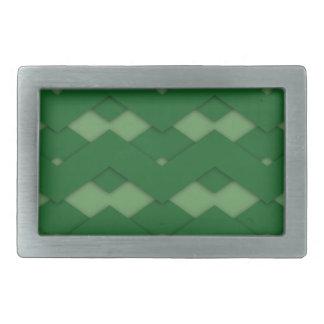 Zigzag verde hebillas de cinturon rectangulares