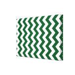 Zigzag verde y blanco impresión en lona