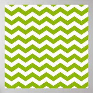Zigzag verde y blanco impresiones