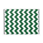Zigzag verde y blanco iPad mini cobertura