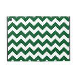Zigzag verde y blanco iPad mini protector