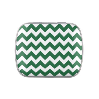 Zigzag verde y blanco frascos de caramelos