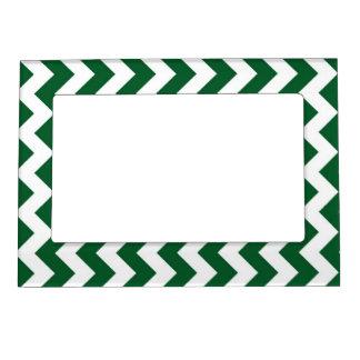 Zigzag verde y blanco marcos magneticos