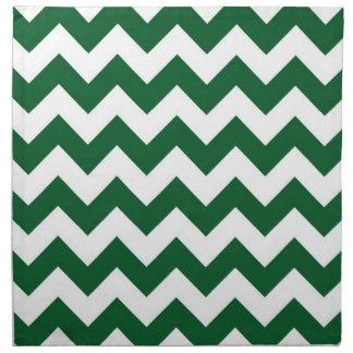 Zigzag verde y blanco servilleta