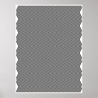 Zigzag vertical dos del arte de Op. Sys. Poster