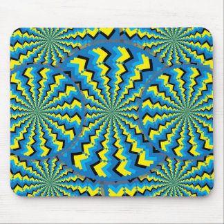 Zigzag Wheelies Mouse Pad