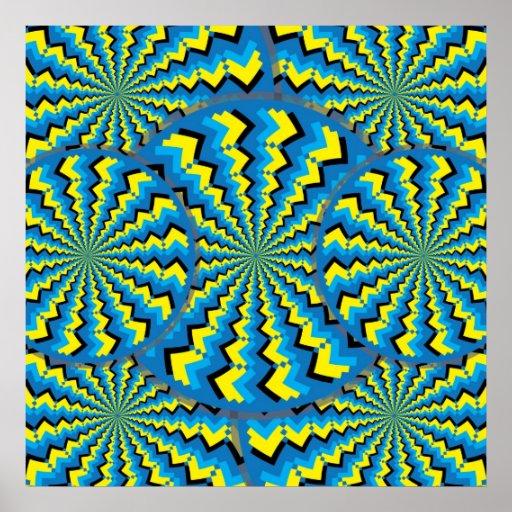 Zigzag Wheelies Poster