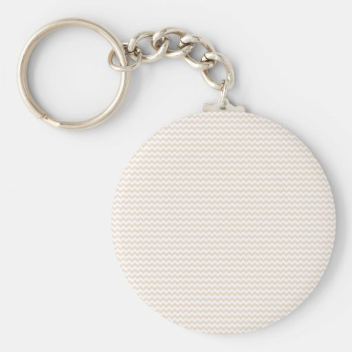 Zigzag - White and Almond Key Chains