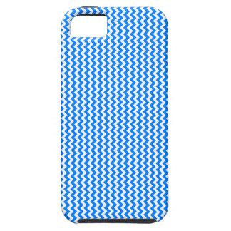 Zigzag - White and Azure iPhone SE/5/5s Case