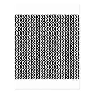 Zigzag - White and Black Postcard