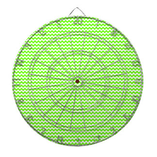 Zigzag - White and Bright Green Dartboard With Darts