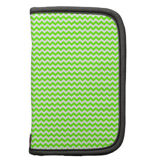 Zigzag - White and Bright Green Planner