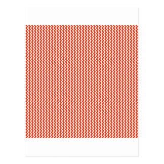 Zigzag - White and Bright Red Postcard