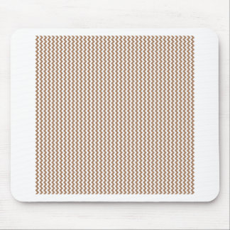 Zigzag - White and Cafe au Lait Mouse Pad