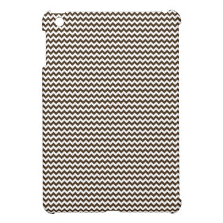 Zigzag - White and Cafe Noir Case For The iPad Mini