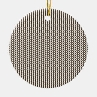 Zigzag - White and Cafe Noir Christmas Tree Ornaments