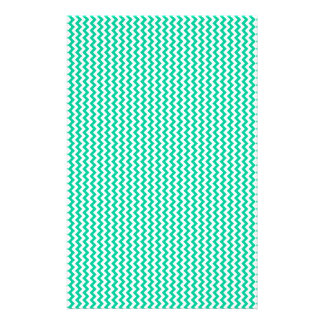 Zigzag - White and Caribbean Green Stationery Paper