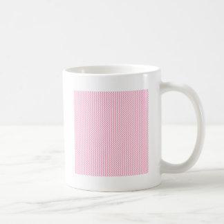 Zigzag - White and Carnation Pink Coffee Mug