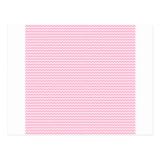 Zigzag - White and Carnation Pink Postcard