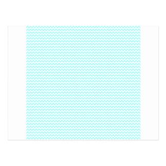 Zigzag - White and Celeste Postcard