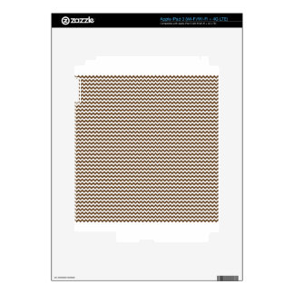 Zigzag - White and Dark Brown Decal For iPad 3