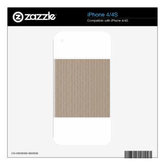 Zigzag - White and Dark Brown iPhone 4S Decals