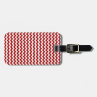 Zigzag - White and Dark Candy Apple Red Luggage Tag