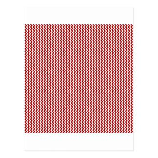 Zigzag - White and Dark Candy Apple Red Post Cards