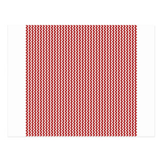 Zigzag - White and Dark Candy Apple Red Postcard