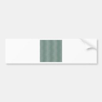Zigzag - White and Dark Green Bumper Sticker