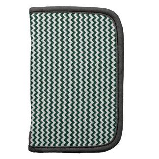 Zigzag - White and Dark Green Folio Planners