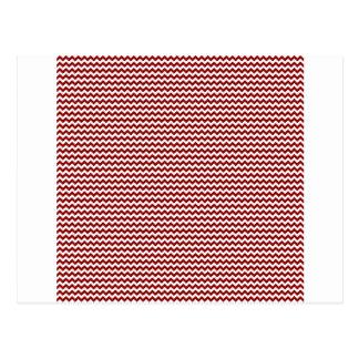 Zigzag - White and Dark Red Postcard